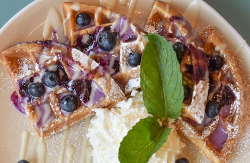 Hatch's Blueberry Streusel Waffle