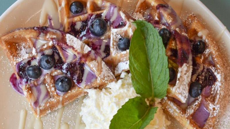 Hatch's Blueberry StreuselWaffle